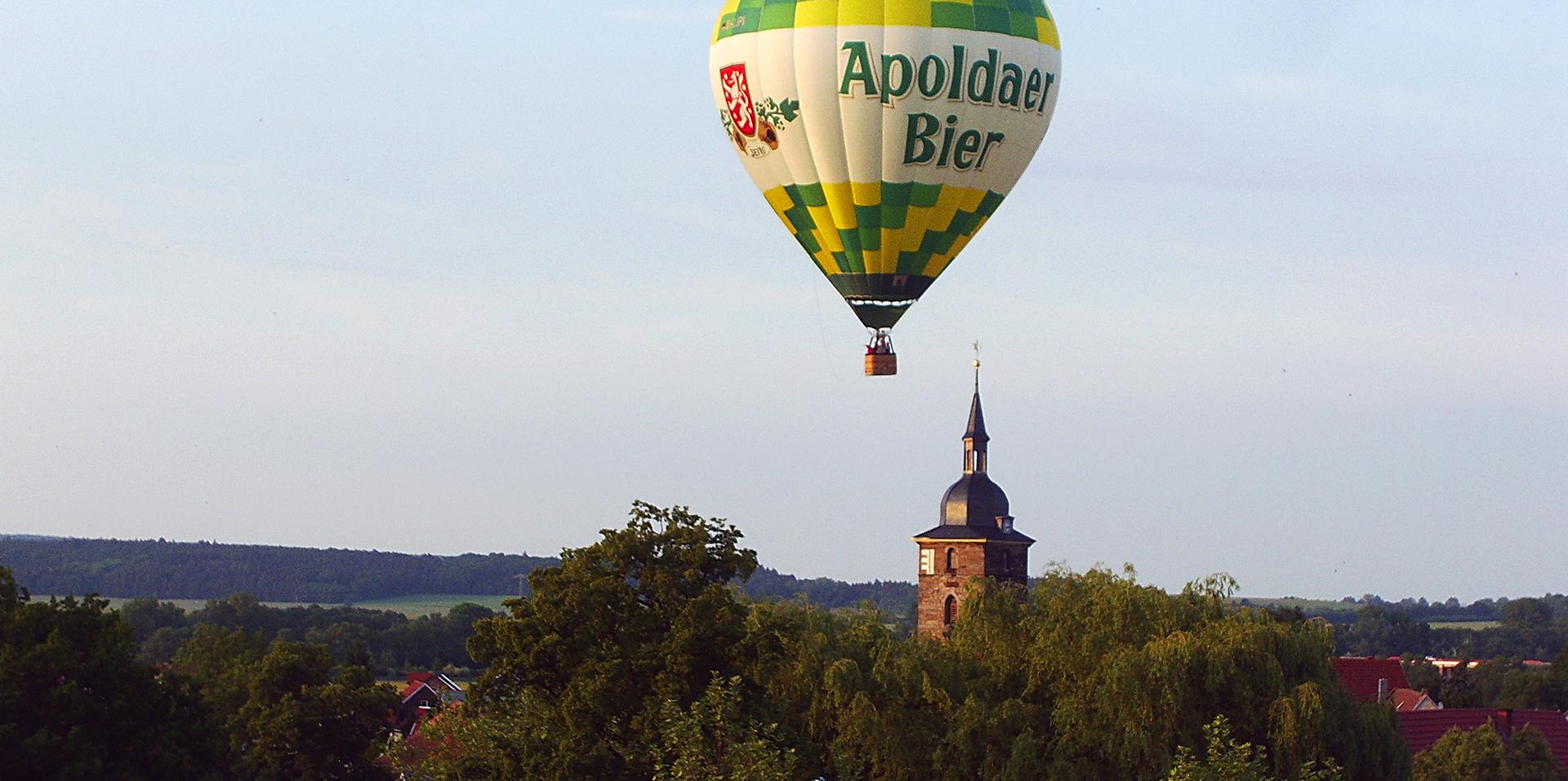 Ballonfahrt vom Heimatort